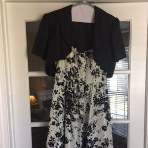 Flowered party dress with Bolero jacket